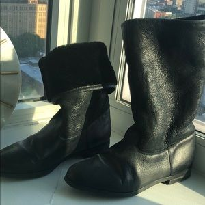 Fur lined KMB boots from Anthropologie size 39